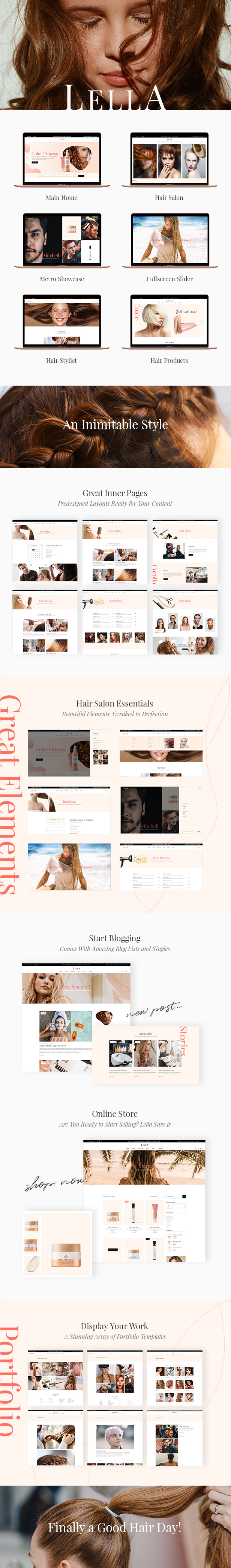 Lella - Hairdresser and Beauty Salon Theme - 2